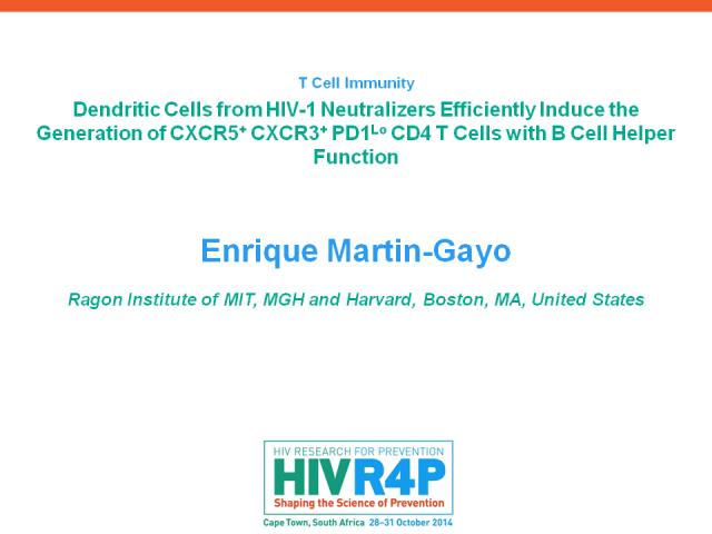 Player Enrique Martin-Gayo - T Cell Immunity - HIV Research